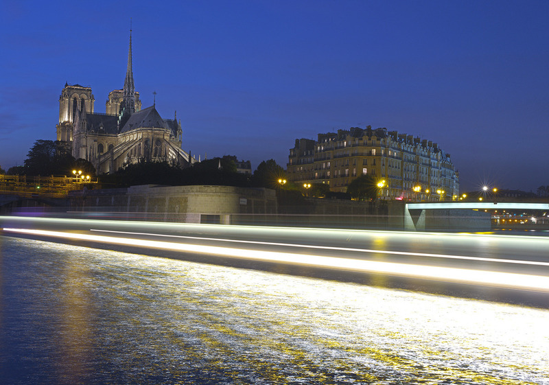 KKHP9244 . 프랑스 파리 세느강변 노틀담성당 야경